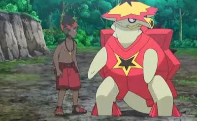 Pokemon Sol y Luna Capitulo 123 Temporada 20 Domina el movimiento Z, El campamento de entrenamiento feroz de Kaki