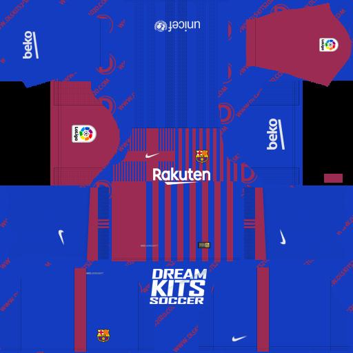 Kit Dream League Soccer 2019 For Fc Barcelona Kit 2021-2022 Nike in (Home)