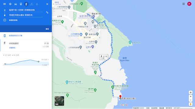 哥連臣角炮台地圖