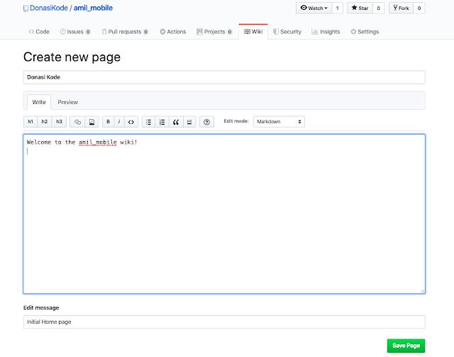 Membuat Dokumentasi Proyek Anda di Github