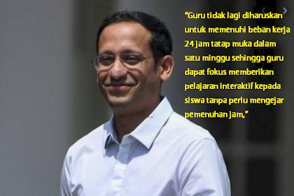 Alhamdulillah, Mendikbud: Guru Tak Lagi Diharuskan Memenuhi Beban Kerja 24 Jam Tatap Muka Dalam Satu Minggu