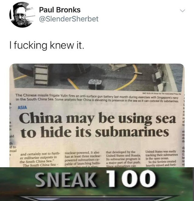 Very very sneaky