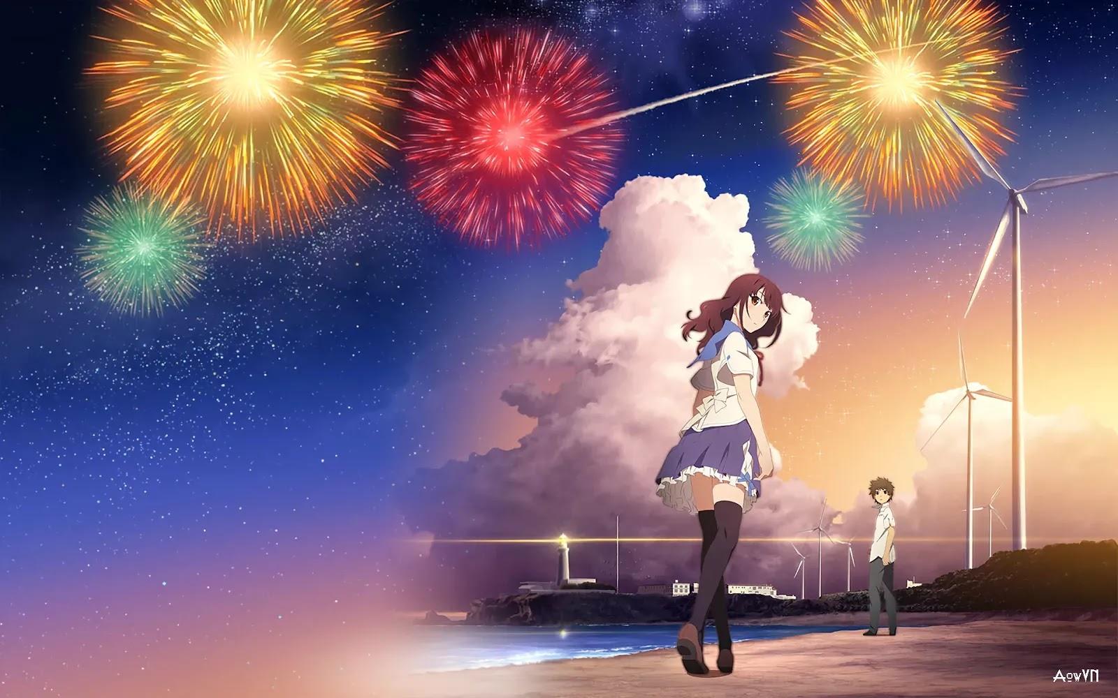 AowVN.org minz%2B%252818%2529 - [ Hình Nền ] Anime Uchiage Hanabi Shita Kara Miru Ka cực đẹp | AowVN Wallpapers
