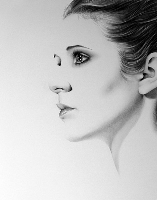 02-Carrie-Fisher-Ileana-Hunter-Celebrity-Black-and-White-Stylish-Drawing-Portraits-www-designstack-co