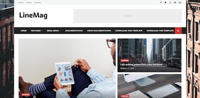 Templatesyard - LineMag Blogger Template