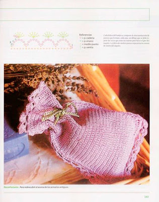 aromaterapía, bolsas, ganchillo, lavanda, crochet, patrón