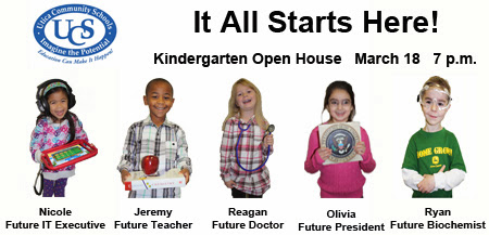 Kindergarten Open House Tuesday, March 18th at 7:00 P.M.