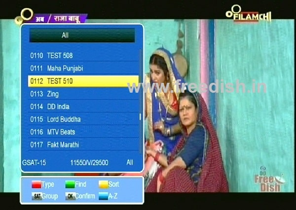 Know Filamchi Channel Frequency and Channel Number