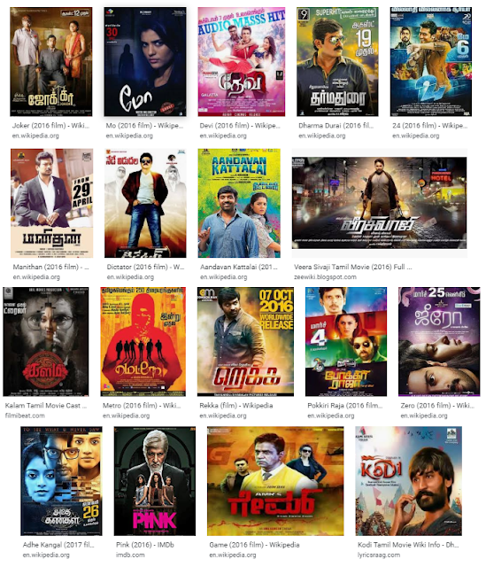 2016 Tamil Hit And Flop Movies List