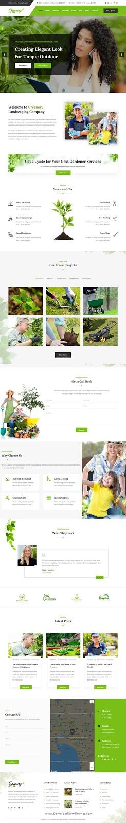 Premium Gardening, Lawn & Landscaping HTML Template