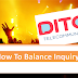 How To Balance Inquiry In Dito?