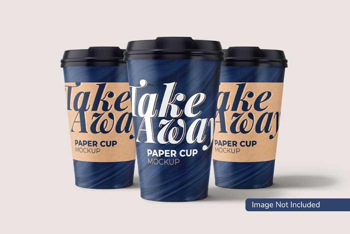Paper Cup Take Away PSD Mockup