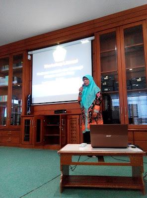 Pembukaan, sambutan oleh Kepala Perpustakaan SMA Muhammadiiyah 1 Yogyakarta