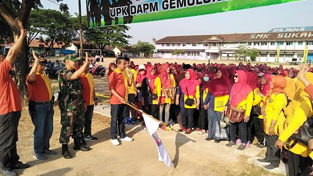 Gerak Jalan Dalam Rangka Gebyar Dasawarsa UPK DAPM Kec. Gemolong