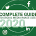 Social Media Image Sizes – Cheat Sheet 2020 Complete #infographic