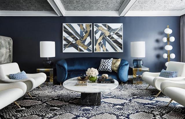 interior design ideas blue living room