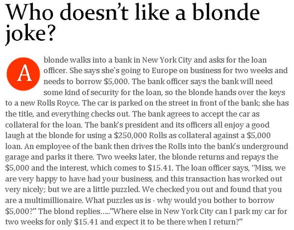 Worlds Best Blonde Jokes 114