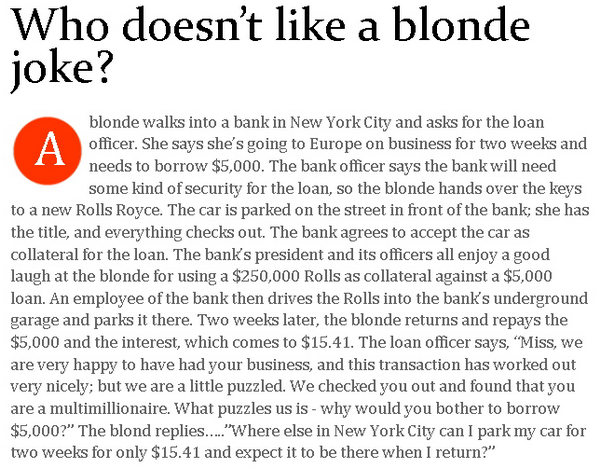 The Best Blonde Joke 98