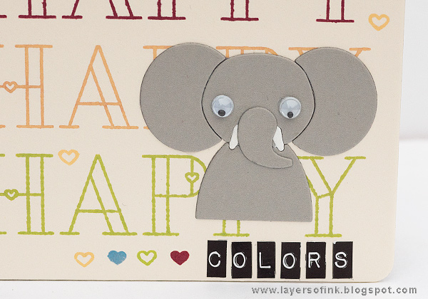 Layers of ink - Happy Colors Board Book Tutorial by Anna-Karin Evaldsson with SSS Picture Book Elephant