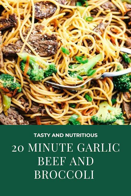 20 MINUTE GARLIC BEEF AND BROCCOLI