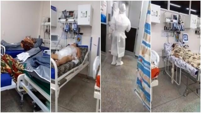 Vídeo: COVID-19: Imagens mostram cadáver ao lado de pacientes em hospital