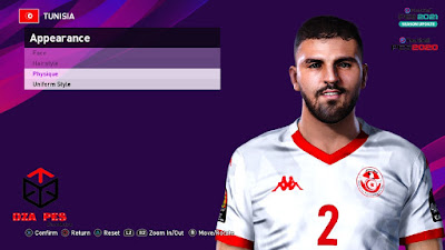 PES 2021 Faces Syam Ben Youssef by Dzayer PES