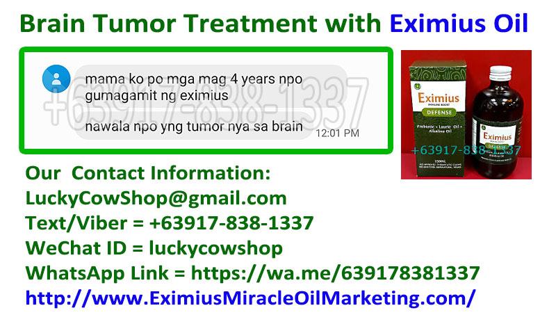 brain tumor treatment eximius oil
