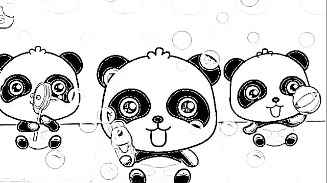 Gambar babybus hitam putih untuk mewarnai