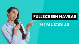 How to create a Full screen overlay navigation