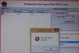 eSPT PPh 23 Error Tidak Dapat Buat CSV, FuncHashData Bad UID