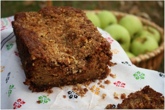 Apple Bread w/ Sugar & Cinnamon Topping
