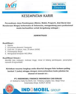 Administrasi di PT Indomobil Finance Indonesia