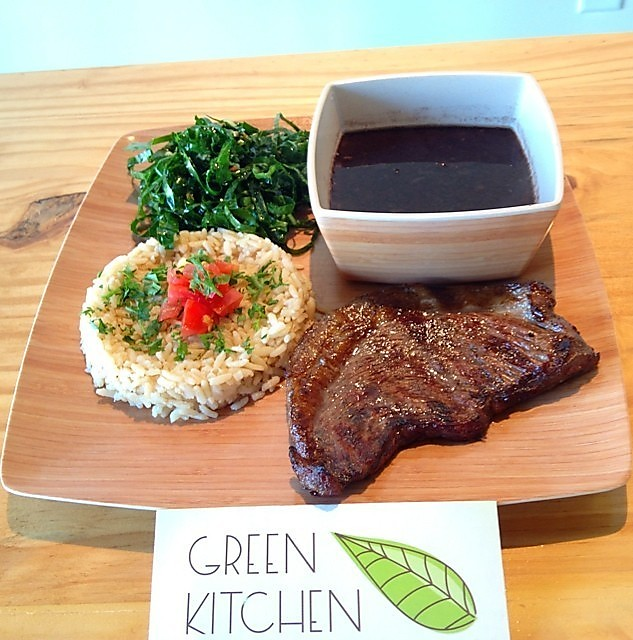 Prato do restaurante Green Kitchen em Orlando