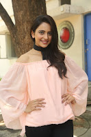 Rakul Preet Singh in lovely Pink Crop Top and Black Trousers at Jaya Janaki Nayaka success meet 009.JPG