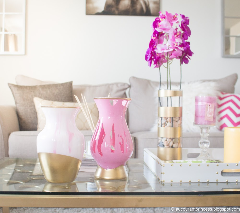 DIY: Update Clear Glass Vase with Acrylic Paint