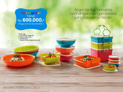 Colorful Set Tupperware Promo Februari 2017