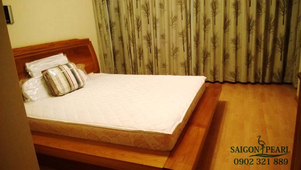 Topaz 1 Saigon Pearl cho thuê căn hộ 2 phòng ngủ - giường ngủ