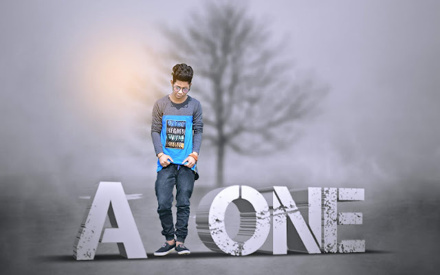alone boy in fog, picsart editing tutorial, picsart photo editing, alone boy photo, mmp picture, lonely photo editing, picsart editing, photo editing tutorial