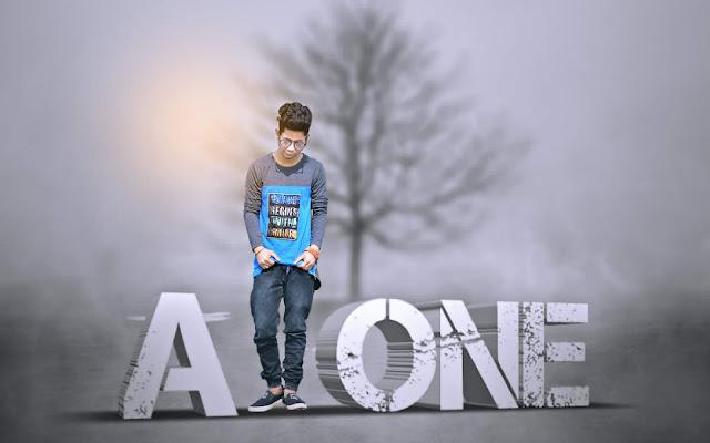 Picsart Editing Alone Boy in Fog Manipulation