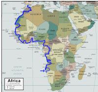 Transafrica Westroute Karte Transafrika