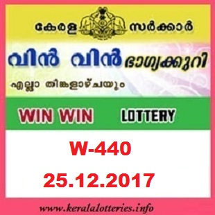 WIN WIN(W-440) RESULT LOTTERY ON DECEMBER 25, 2017