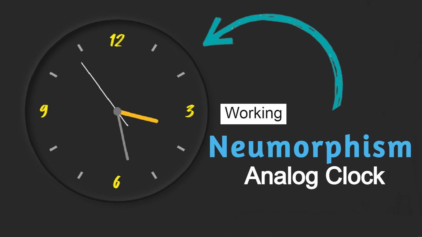 Create Analog Clock Using HTML, CSS & JavaScript