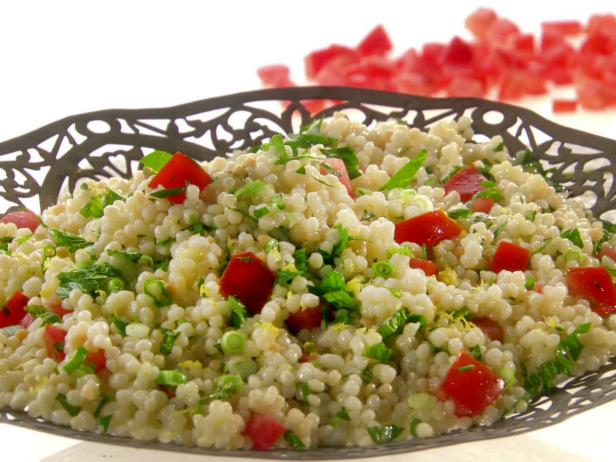 Tabbouleh with couscous and meat is a Moroccan dish