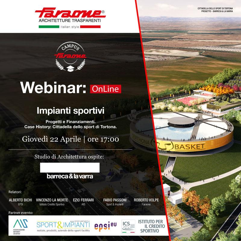 Webinar Impianti Sportivi: Progetti e Finanziamenti