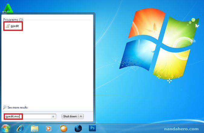 Cara Menyembunyikan Tombol Shutdown, Restart, Sleep, dan Hibernate di Windows 7