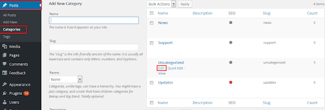 rename the category in WordPress