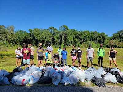 volunteers at clean up event