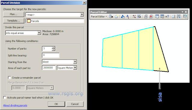 Membagi polygon sama luasan dengan ArcGIS