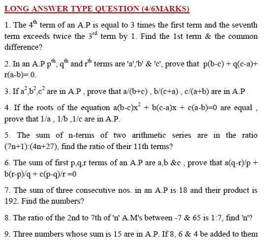 ap,gp,hp,series,mcq maths for competition ,competitive mathematics,