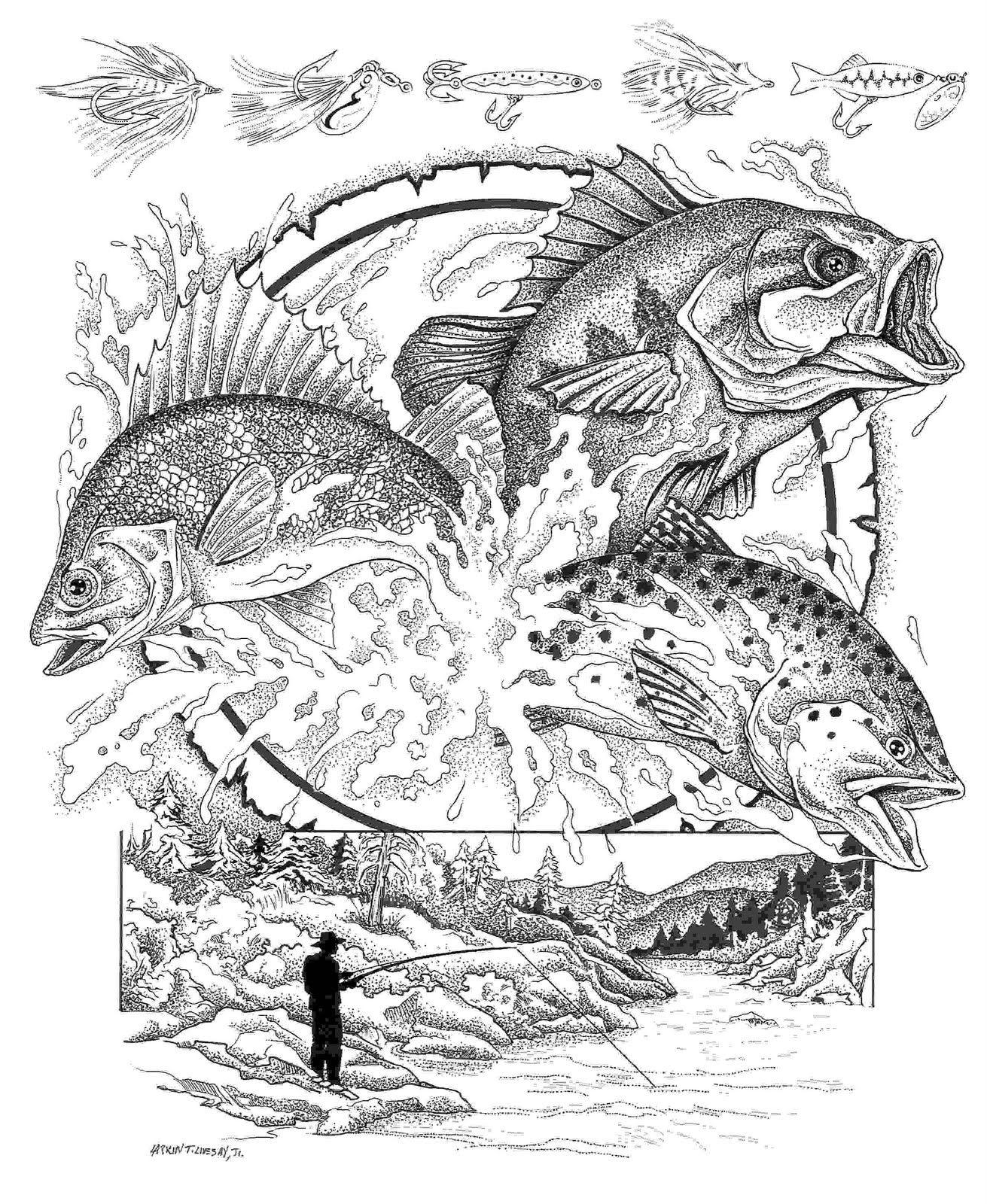 Malvorlage Anglerfisch